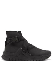 Balmain B Troop High Top Logo Strap Trainers Black