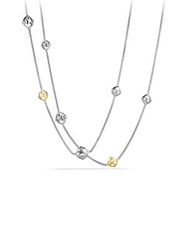 David Yurman Dy Logo Chain Necklace With Gold Silver Gold