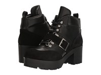 The Kooples Leather And Suede Boots Black Women's Boots