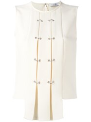 J.W.Anderson Pleated Front Sleeveless Blouse Nude Neutrals
