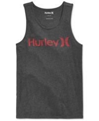 Hurley Men's One And Only Graphic Print Logo Tank Dark Grey