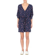 Seafolly Longbeach Umbrella Print Woven Playsuit Indigo