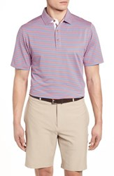 Bobby Jones Xh2o Feed Stripe Polo Mai Tai