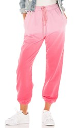 Lovers Friends Sammy Jogger Pant In Pink. Pink Ombre