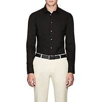 Armani Collezioni Cotton Poplin Dress Shirt Black