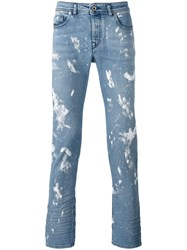 Diesel Black Gold Printed Slim Fit Jeans Blue