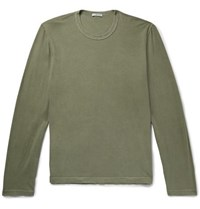 James Perse Combed Cotton Jersey T Shirt Green