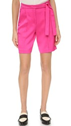 Edun Shorts With D Ring Belt Neon Pink