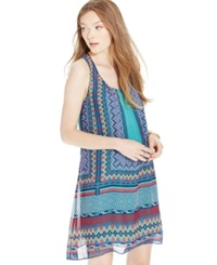 Sequin Hearts Juniors' Printed High Low Shift Dress