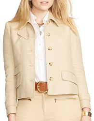 Lauren Ralph Lauren Plus Herringbone Jacket Brown