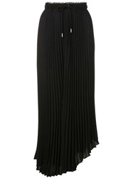 Proenza Schouler Pswl Crepe Pleated Midi Skirt Black