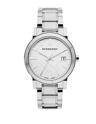 Burberry Mens City Stainless Steel Watch Silver
