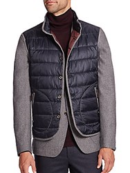 Saks Fifth Avenue Quilted Nylon Vest Grey