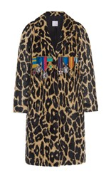 Stella Jean Faux Cheetah Medallion Coat Animal