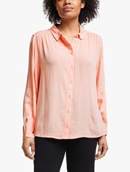 John Lewis Collection Weekend By Crinkle Boyfriend Shirt Soft Pink