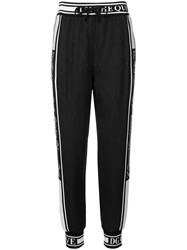 Dolce And Gabbana Ribbed Band Track Trousers Black