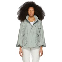 3.1 Phillip Lim Blue Zip Field Jacket
