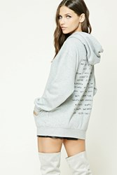 Forever 21 Love Embroidered Hoodie