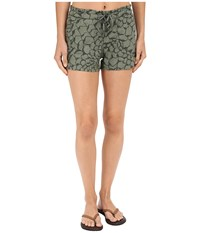 The North Face Peak 2 Pub Shorts Laurel Wreath Green Organic Tonal Print Prior Season