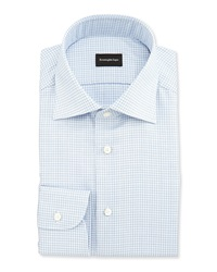 Ermenegildo Zegna Shadow Microcheck Shirt Blue