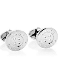 Links Of London Sterling Silver Button T Bar Cufflinks One Colour