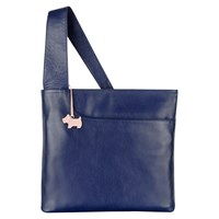 Radley Pocket Large Leather Across Body Bag Navy