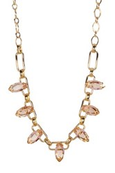 Carolee Stone Chain Necklace Yellow