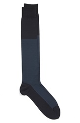John W. Nordstrom Over The Calf Stripe And Pin Dot Socks Navy