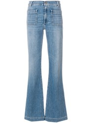 The Seafarer High Waist Flared Jeans Blue