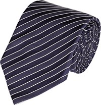 Ralph Lauren Black Label Diagonal Striped Necktie Blue