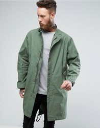 Nudie Jeans Co Folke Waxed Parka Green