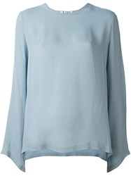 Barena Scoop Neck Blouse Blue