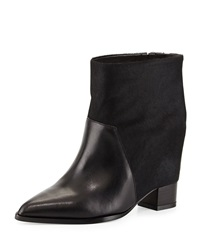 Saint And Libertine Mercer Calf Hair Hidden Wedge Bootie Black