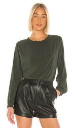 Velvet By Graham And Spencer Ginger Blouse In Olive. Army
