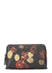 Coach Raisin Grained Leather Cosmetics Case Multicoloured