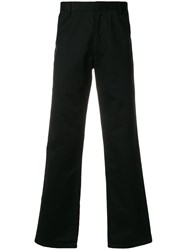 Fred Perry Raf Simons X Tape Detail Trousers Black