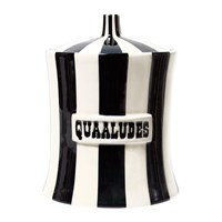 Jonathan Adler Vice Canister Quaaludes Black White