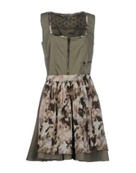 Marc Cain Short Dresses Military Green