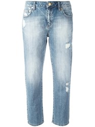 Michael Michael Kors Distressed Cropped Jeans Blue