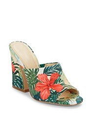 Charles By Charles David Hector Floral Print Mules Green Multi