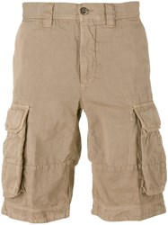 Incotex Cargo Shorts Men Cotton 34 Brown