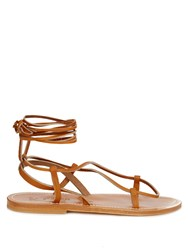 K. Jacques Thebes Leather Sandals Tan