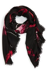 Nordstrom Women's Expressionist Floral Print Scarf