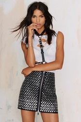 Nasty Gal Living After Midnight Studded Skirt
