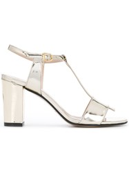 Marc Ellis T Bar Strap Sandals Metallic