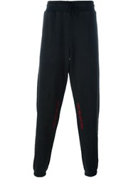 Off White Tapered Track Pants Black