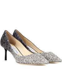 Jimmy Choo Romy 60 Glitter Pumps Black