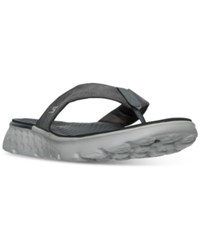 Skechers Men's On The Go 400 Vista Comfort Thong Sandals From Finish Line Charcoal