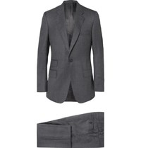 Kingsman Grey Slim Fit Puppytooth Checked Wool Suit Gray