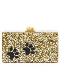 Edie Parker Jean Paws Box Clutch Gold